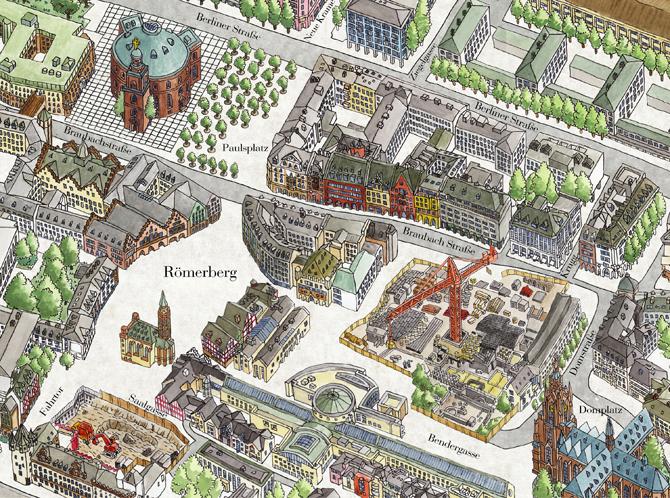 Frankfurt 3d Map Borgarmynd